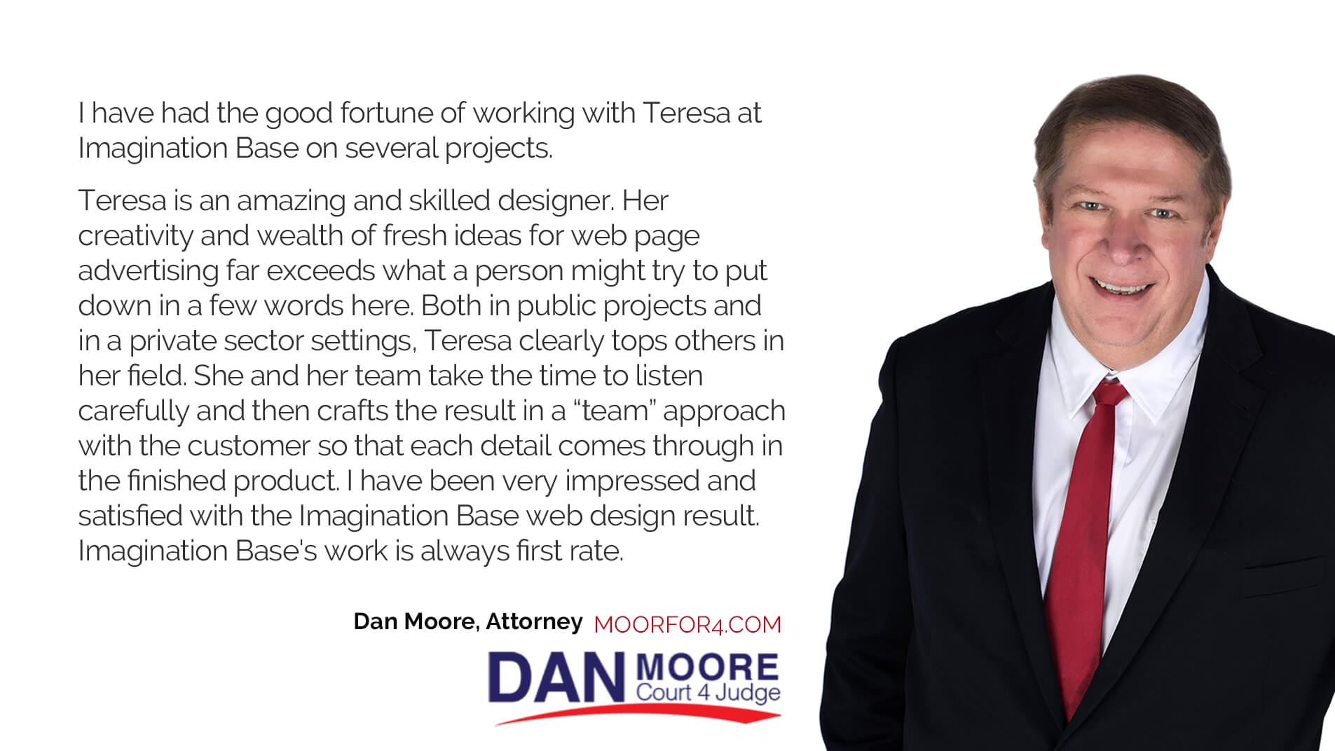 Testimonial from Dan Moore